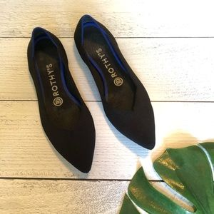 Rothy's The Point Flat in Black Solid 7.5 G4